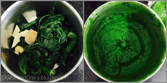 Palak Paneer - preparation step 3