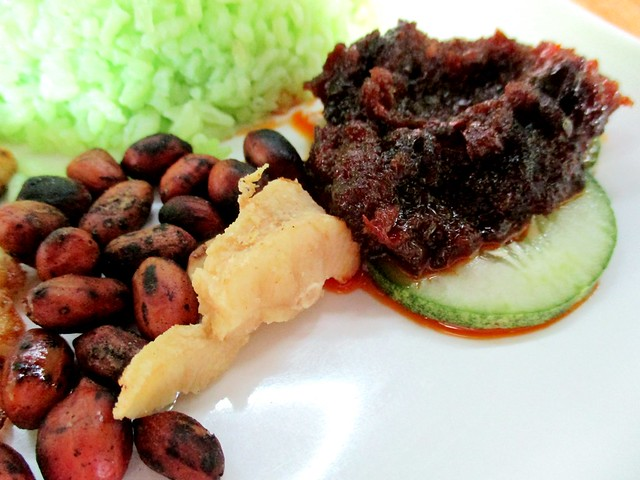 Sambal, peanuts and salted fish
