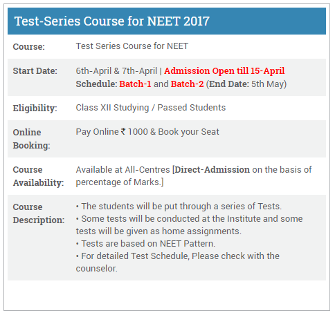 NEET Crash course by Aakash