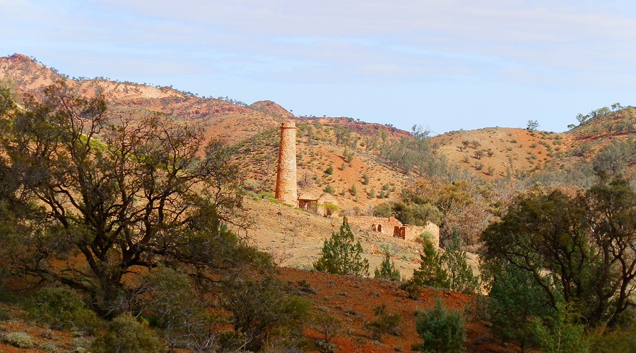 Nuccaleena Mine Ruins via Angorichina, Northern Flinders Ranges