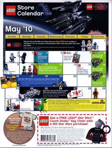 LEGO Store Calendar May '10 - Front | by TooMuchDew