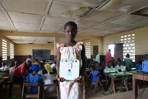 Girl_with_xo_classroom_Sierra_Leone | by One Laptop per Child