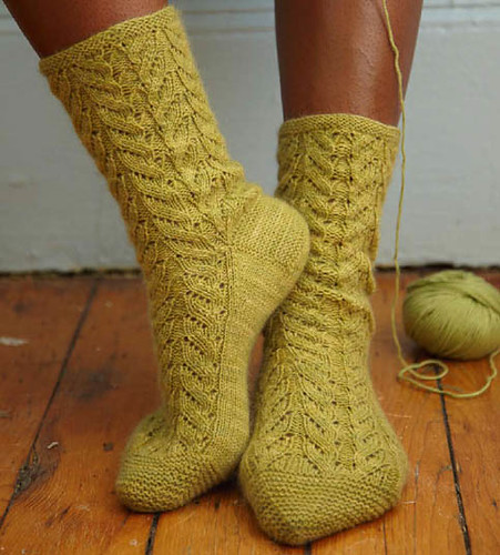 Lacy cable socks | by Veronik A.