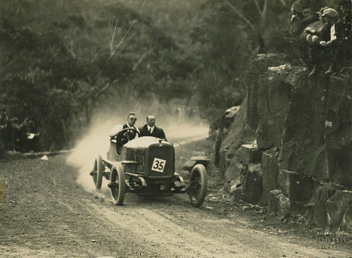 Don Harkness at wheel in RAC hill climb, Royal National Park, 1926 | by Powerhouse Museum Collection