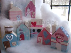 snowy village set | by Lori McDonough