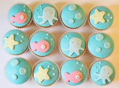 under the sea cupcakes | by hello naomi