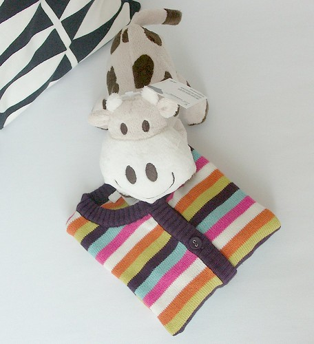 Striped baby cardigan & cow... | by Iro {Ivy style33}