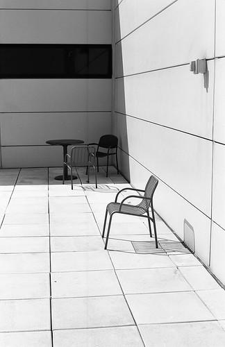 Chair shadows third floor deck at swa hdq kodak t max for 100 floors 3rd floor