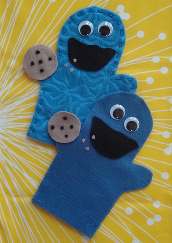 cookie monster puppets | by VickieHowell