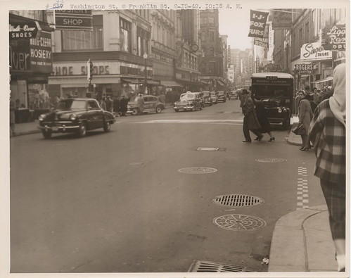 Washington Street at  Franklin Street [TP135] | by City of Boston Archives