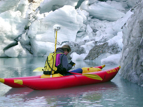 Recording the location of Grinnell Glaciers Terminus via kayak | by GlacierNPS