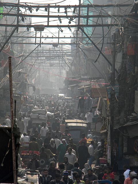 apocalyptic view of Old Delhi
