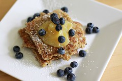 pan-seared irish oats and blueberries | by Cascadian Farm