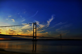 humber at sunset (bridge over trouble water) | by manual_exp