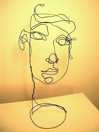 Drawing Lines Using C : Wire sculpture face travis schmidt flickr