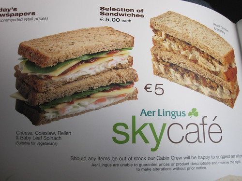 Are Lingus Sky Cafe - Nothing for Vegans but One Vegetarian Sandwich | by veganbackpacker