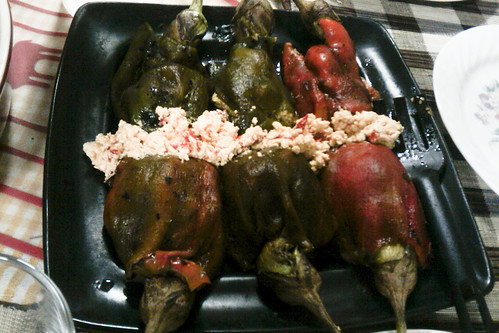 Roasted Bell Peppers stuffed with roasted eggplant and sau… | Flickr