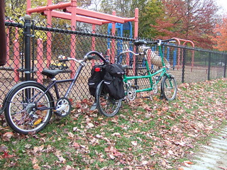 Bicycle train! Engine, baggage car, caboose! | by somervillebikes