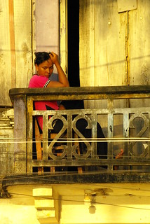 Balcony & Girl Kep, Cambodia | by The Hungry Cyclist