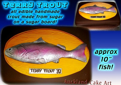 Cake And Sugar Art Nz : TROUT FISHERMAN BIRTHDAY CAKE handmade sugar fondant ...