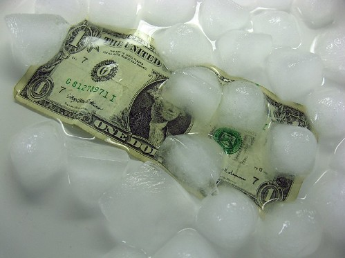 melting money and ice | by Steve A Johnson