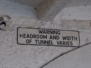 Broad Street Tunnel - Warning Headroom and Width of Tunnel Varies - sign | by ell brown