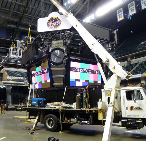 Conseco Fieldhouse Sign Install | by ISF Signs