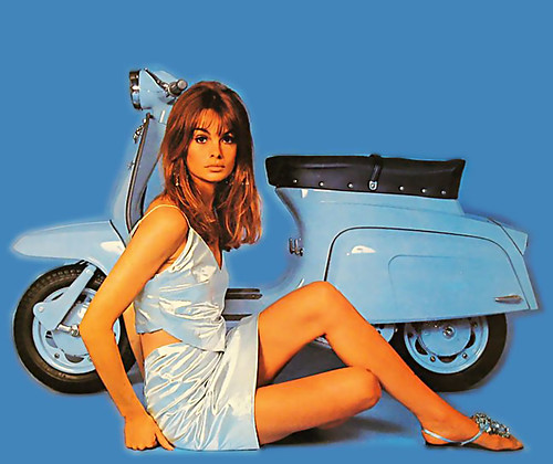 ... Jean Shrimpton and motorscooter | by x-ray delta one