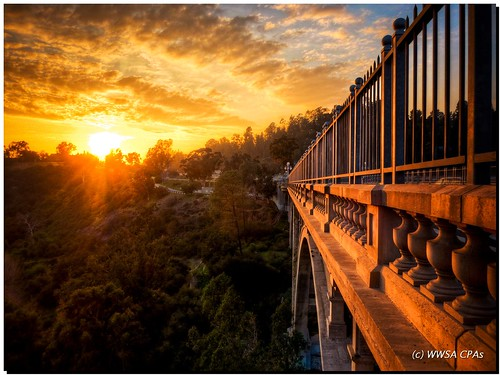 Sunset bridge | by California CPA