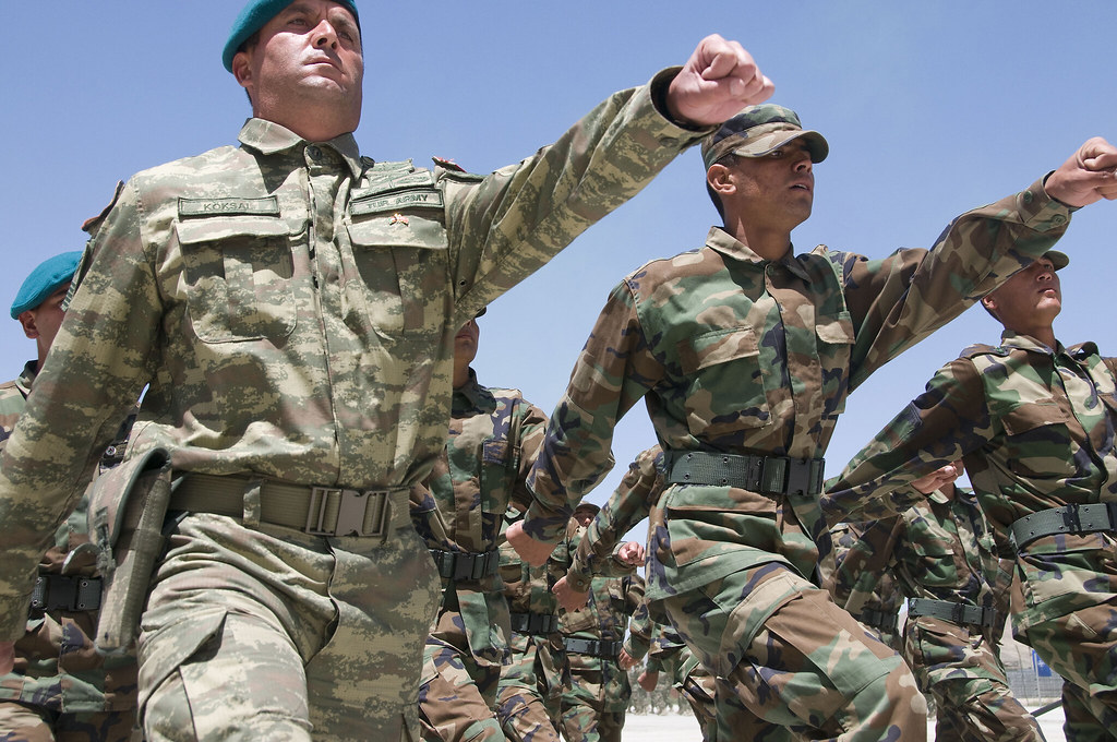 Afghan National Army trainees swear oath of enlistment
