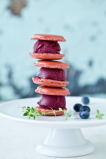 Blueberry Sorbet Macarons | by tartelette