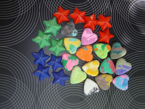 Recycled Crayons: Hearts & Stars | by VickieHowell