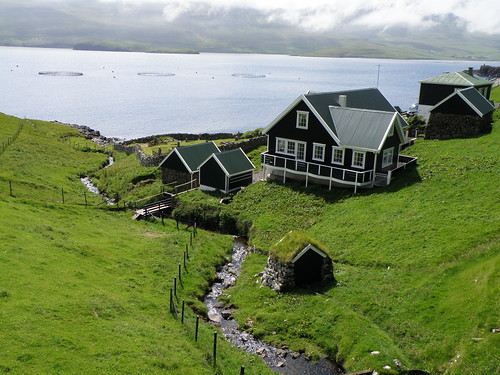 Býlingurin Á Bø í Froðba - The Old Part of Frodba with the Grave Yard and a Water Mill - Faroe Islands | by Eileen Sandá
