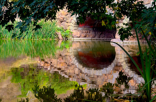 Stone Bridge reflects on Stow Lake in Golden Gate Park | by Abe K