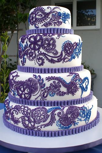 Mehndi Inspired Cake : Henna inspired wedding cake flickr photo sharing