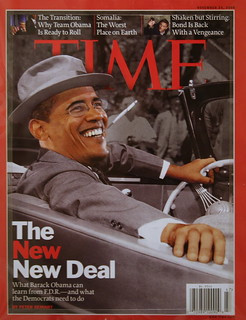 "Barack Obama, Time cover November 24, 2008, ""The New Deal"" 