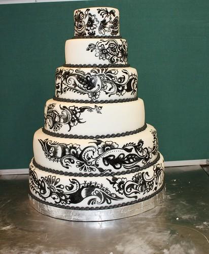 Henna Design Wedding Cake