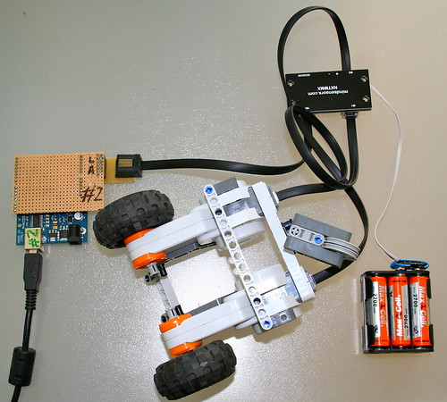 Arduino controls lego motors via i c using an nxtmmx board