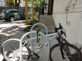 bike racks installed by the City of Austin | by conjunctured