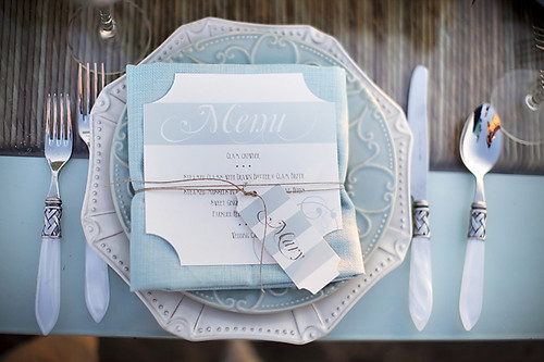 Blue Placesetting-Seaside Inspiration to Reality-Style Me pRetty-Camille Styles Events | by camillestyles