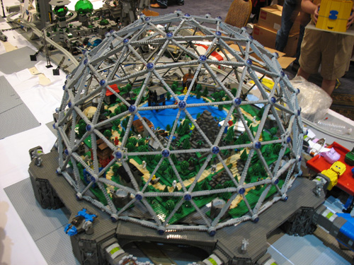 Build A Geodesic Dome Out Of Lego Geodesic Dome