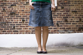278.today I made myself a new skirt out of old jeans! | by mintyfreshflavor
