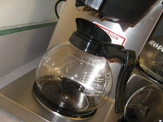 empty coffee pot on hot burner | by Richard Masoner / Cyclelicious