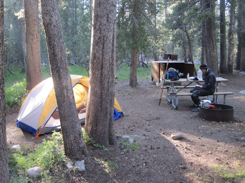 Our campsite in the Backpacker's Campground in Tuolumne Meadows