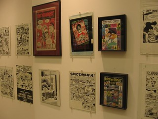 "Peter Bagge wall, ""Counterculture Comix"" exhibit, Bumbershoot 2010 