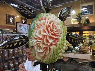 Rose Carved from Watermelon at Giant Eagle Market District Kingsdale | by swampkitty