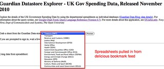 Guardian datastore selector - gov spending data | by psychemedia