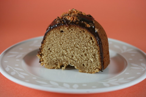 Peanut Butter-Sour Cream Bundt Cake with Butterfinger Ganache Glaze - I Like Big Bundts 2010 | by Food Librarian
