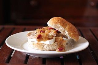 turkey, brie, and cranberry sandwich | by Madison Bistro