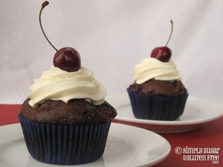 Choclate Cherry Cupcakes 2 (gluten-free, sugar-free) | by Simply Sugar & Gluten-Free
